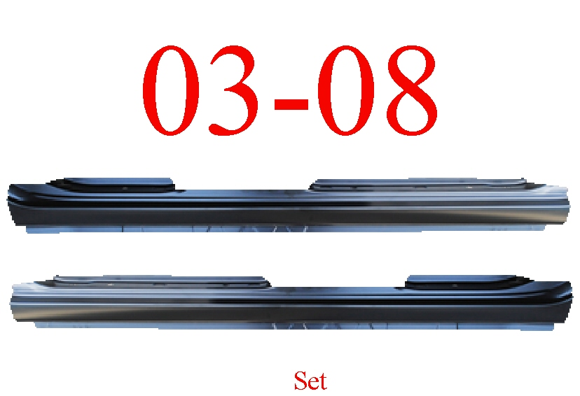 03-08 Toyota Corolla Extended Rocker Panel Set